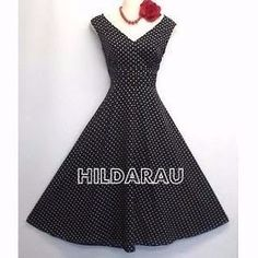 Vestido Bolinhas Pinup Retrô Vintage Anos 60 Decote V - R$ 119,99