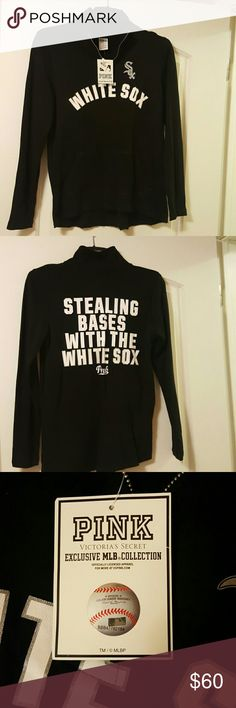 Pink chicago white sox sweeter Nwt, 60% cotton 40% polyester PINK Victoria's Secret Sweaters Crew & Scoop Necks