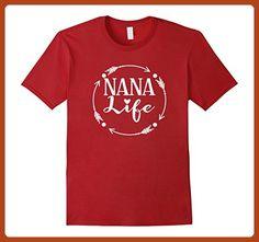 Mens Nana Life Tshirt Grandma Gift Idea Birthday Mothers Day 2XL Cranberry - Birthday shirts (*Partner-Link)