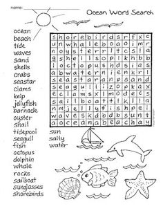 Here are 6 word search pages with the following themes