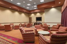 Fedora I at The La Vista Conference Center holds 24 people in Classroom Style seating, 50 in Theatre/Reception Style, and 40 in Banquet Rounds.