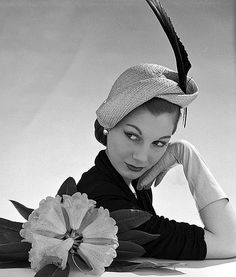 Fiona Campbell-Walter, photo by John French for an advert in The Tatler and Bystander, London UK, 1951