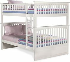 Full/Full Bunk Full Upper Panel - White by Atlantic Furniture Columbia Collection 259-55002 - Furniture Best
