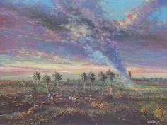 Caribbean art by Wichie Torre | Giclee Print | Custom Matt | Puerto Rico