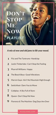 PCOS Playlist Vol. 4 The PCOS Playlist Vol. 4 Keep your spirits up with this new jamming playlist. PCOS Playlist Vol. Workout Playlist, Workout Songs, Workouts, Happy Playlist, Song Playlist, Music Mood, Mood Songs, Positive Songs, Positive Vibes