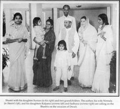 Shri Mataji visits the family of the PM Lal Bahadur Shastri with Her daughters & husband, on the occasion of Diwali.