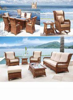 Muebles mimbre para terrazas peque as patios terrazas y for Sofas mimbre exterior