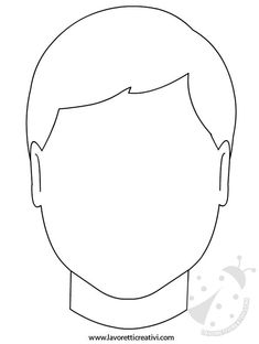 viso-bambino Face Template, Ecole Art, Teacher Hacks, Art Plastique, Art Therapy, Preschool Activities, Paper Dolls, Coloring Pages, Crafts For Kids