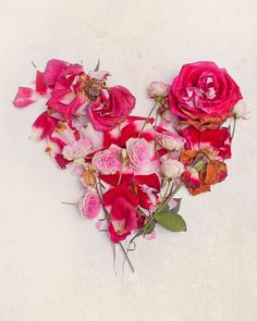 florals in the shape of a heart.