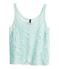 Turquoise tank top. H&M. #HMPASTELS