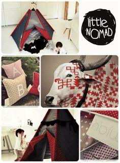 TEEPEE LittleNOMAD and MIAU Design pillows
