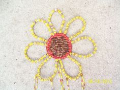 Sunflower Windchime Hand Beaded - pinned by pin4etsy.com