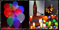 party lighting, glowstick braclets in helium balloon for evening or nighttime birthday party!