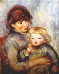 Maternity (child with a biscuit) - Pierre-Auguste Renoir