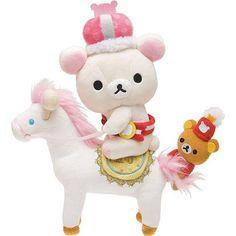 Rilakkuma Wonderland white bear on horse plushie San-X LOOOOOOOOOOL