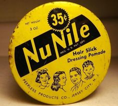 Full-Vtg-35-cent-Tin-Nu-Nile-Hair-Slick-Pomade-for-Men-Women-Children-c1930s-40s