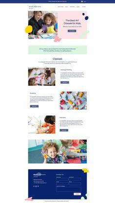 Art Classes Website | Wix Website Template