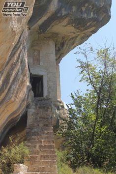 Eremo di Santo Spirito, Monte della Majella (Abruzzo). Celestino V lived in this place from 1241 to 1244 - after Eremo di Sant'Onofrio. He was an ermit and he loved inacessible place. You can see more photos here: http://www.youreporter.it/gallerie/I_monti_della_Maiella_e_gli_eremi_Celestino_V_foto_3/pag-18
