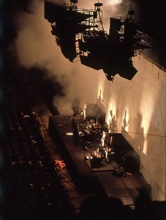 Pink Floyd performing the original Wall shows at Earls Court August Pink Floyd Live, Pink Floyd Art, Pink Floyd Concert, Concert Stage Design, Atom Heart Mother, Peter Wood, Roger Waters, David Gilmour, Backgrounds