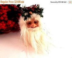 Santa Claus Christmas Tree Ornament Red and Gold Victorian