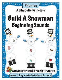 Welcome winter with the Make, Take and Teach Build a Snowman- Word Families activity. When you print this activity you will receive 15 snowmen eac. Word Family Activities, Alphabet Activities, Toddler Activities, Learning Activities, Kindergarten Reading, Teaching Reading, Teaching Tools, Teaching Resources, Teaching Ideas