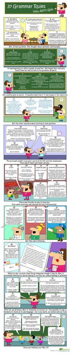 37 Grammar Rules You Ain't Got Infographic