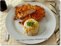 Joghurtos csirkemell kukorica pelyhes bundában (sütőben!) sütve