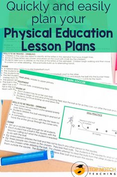 Quickly and easily plan your physical education lessons and PE activities with these NO PREP Physical Education Lesson Plans. This resource includes 35 PE lesson plans and activities that will last the entire school year. Each lesson is on a separate card which makes it easy to grab and go! Perfect for taking to the gym, the field, the court, or the classroom. Each lesson includes ideas for warm-up activities, skill practice, and games.