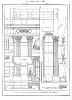 Construction detail drawings of the State Capitol Building, Rhode island