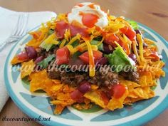 sour cream, taco salad, salad recipes, tacos, taco seasoning