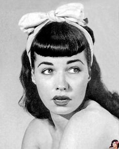 Bettie Page Bangs. Can they look good with a pixie cut?