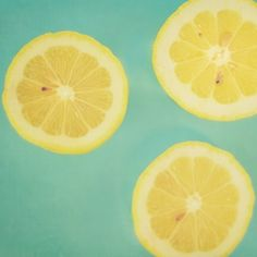 Lemons IV - 8 x 8 Fine Art Photograph - yellow green teal mint citrus lemon fruit kitchen food home decor print. $30.00, via Etsy.