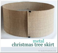 How to Make a Christmas Tree Stand Cover With Metal and Fabric | In My Own Style