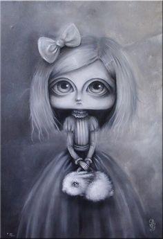 Grey girl with bag by paulee1.deviantart.com on @DeviantArt
