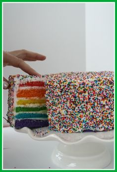 Rainbow Cake with sprinkles!