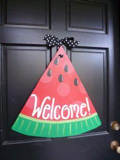 Watermelon Wooden Door Hanger. $55.00, via Etsy.