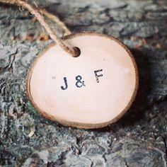 Personalized ornaments. #gftwoodcraft #rusticwedding #rusticdecor #rusticchic
