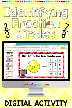 Students move number tiles to represent the fraction circle. Works in Google slides! Learning Resources, Student Learning, Teacher Resources, Teaching Ideas, Elementary Teacher, Teacher Pay Teachers, Fractions, Math Centers, Math Lessons