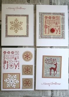 Christmas cards - absolutely love - by @Lina