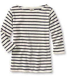 "L.L. Bean ""French Sailor's Shirt, Three-Quarter-Sleeve Boatneck"""
