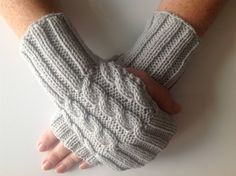 A personal favourite from my Etsy shop https://www.etsy.com/uk/listing/521530421/ladies-dove-grey-cable-stitch-hand