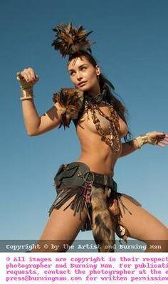 Fabulous feathers. Tribal. Burning Man