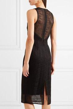 Diane von Furstenberg - Paneled Lace Dress - Black - US10