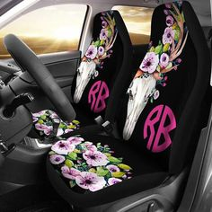 4-pc Seat Cover Package Includes 2 Universal Front Seat Covers and 2 Front Floor Mats Realtree 4pc Camo Auto Accessories Kit Mint Camo