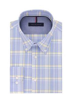 Tommy Hilfiger Men's Non Iron Slim Fit Dress Shirt - Stream - 16.5 32/33
