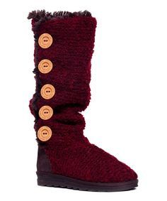 Look what I found on #zulily! Red Malena Crotchet Wool-Blend Boot #zulilyfinds