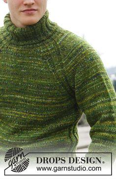 Mens Knit Sweater Pattern, Crochet Jumper, Jumper Patterns, Sweater Knitting Patterns, Free Knitting, Men Sweater, Drops Design, Mens Roll Neck, Magazine Drops