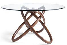 Table ronde bois massif noyer plateau verre trempé Artista 150 70051dc8387e