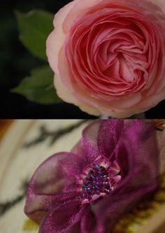 Chiffon & beaded flower