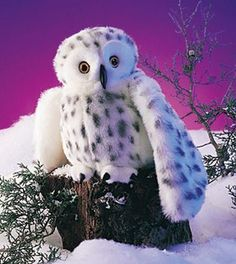 Folkmanis Snowy Owl Hand Puppet - 2236